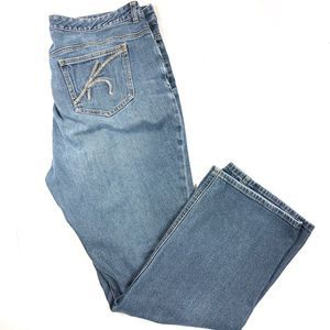 Michael Kors Boot Cut Medium Was Jeans Size 18